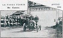 Arrivée de la première Targa Florio 1906 (de Caters sur Itala 35-40, le 6 mai).jpg