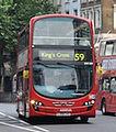Arriva London South bus Wrightbus Gemini 2 DL, Tottenham Court Road, route 59, 2 July 2011.jpg