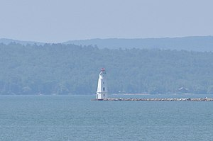 National Register of Historic Places listings in Ashland County, Wisconsin - Image: Ashland WI Breakwater Light