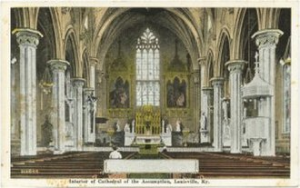 Cathedral of the Assumption (Louisville, Kentucky) - Image of the interior of the Cathedral, circa 1900.
