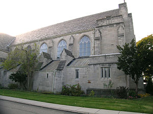 Assumption of the Blessed Virgin Mary Church - Side elevation of church