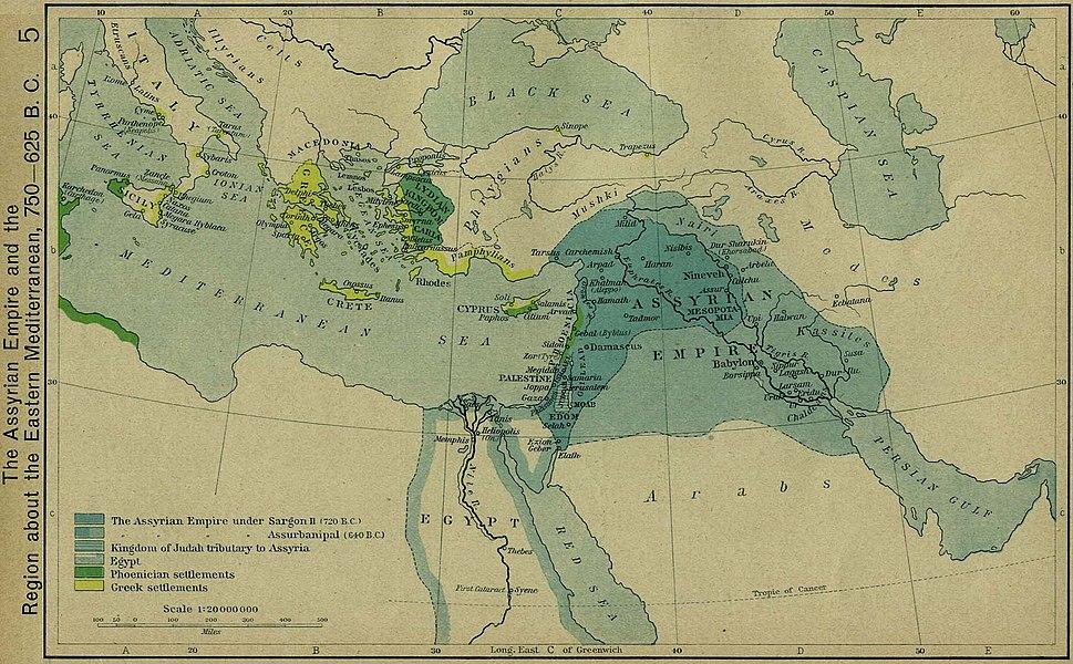 Assyrian empire 750 625