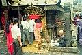 Astrologer by hindu temple, Kathmandu, Nepal July 1997 (22883261789).jpg
