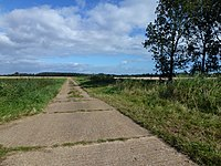 At the end of a concrete road near Ingoldisthorpe (geograph 3131358 by Richard Humphrey).jpg