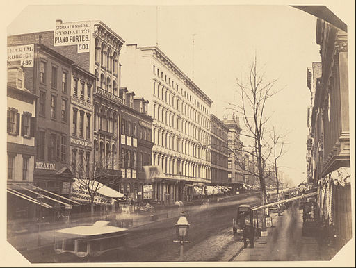 Attributed to Silas A. Holmes (American - Broadway Looking North from Between Grand and Broome Streets - Google Art Project