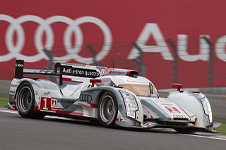 sports prototype racing car built by Audi for Le Mans Prototype 1 class competition