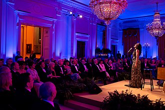 Audra McDonald - McDonald in the East Room of the White House, 2013