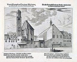 Augsburg Ichnographicae Alte Ev Kreuzkirche