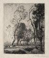 Auguste Louis Lepère - Coucher de Soleil derrière les Arbres - 1920.619 - Cleveland Museum of Art.tif