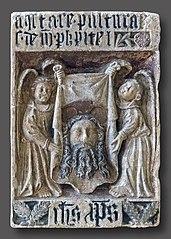 Épitaphe de Philippe Pitei ornée de la Sainte Face