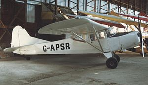 Auster Workmaster - J/1U Workmaster at Shobdon airfield, Herefordshire, in April 1987
