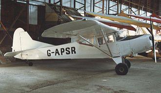 Auster Workmaster - J/1U Workmaster at Shobdon airfield, Herefordshire, in April 1987