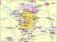 Map Of Central Texas Cities.Austin Texas Wikipedia