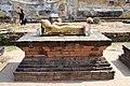 Ayutthaya Wat Lokaya Sutha Reclining Buddha with Gold Foil Offerings (45533459685).jpg