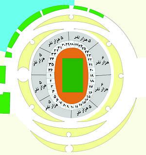 Azadi Stadium - Image: Azadi Stadium Site Plan