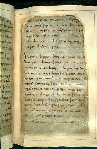 Culture of the United Kingdom - The Anglo Saxon, Old English heroic poem Beowulf is located in the British Library.