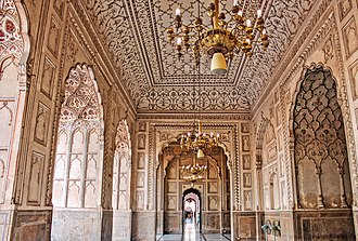 Badshahi Mosque - Badshahi Mosque is renowned for the carved marble and elaborate plasterwork that are used throughout the mosque's interior.