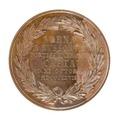 Baksida av medalj med bild av lagerkrans samt text - Skoklosters slott - 99324.tif