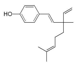 English: Chemical structure of bakuchiol