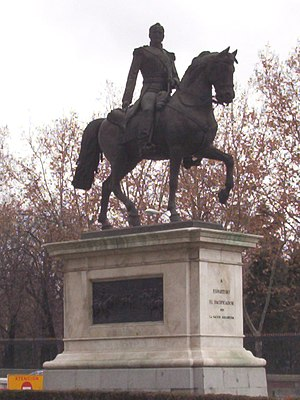 Baldomero Espartero, Prince of Vergara - Bronze equestrian statue of Baldomero Espartero by Pablo Gibert. 1886, Madrid.