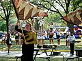 Baldwin Wallace Flag Girl and Cheerleaders (7463761524).jpg
