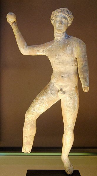 Terracotta Figurine of a Greco-Roman Ball Player