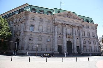 Banco de la Nación Argentina - Headquarters main facade