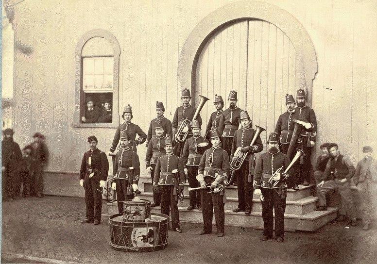 Band of the 10th Veteran Reserve Corps. Washington, D.C. April, 1865