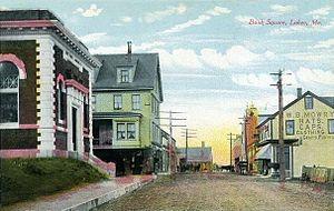 Lubec, Maine - Image: Bank Square, Lubec, ME