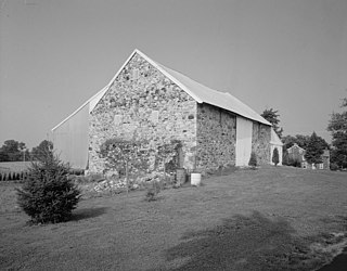 Bank barn barn accessible at ground level on two separate levels