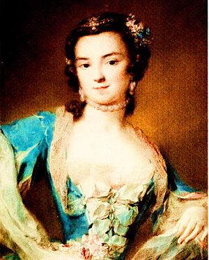 Barbara Campanini - Portrait by Rosalba Carriera, c. 1739 (Staatliche Kunstsammlungen Dresden)