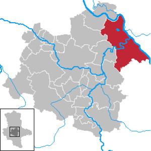 Barby, Germany - Image: Barby (Elbe) in SLK