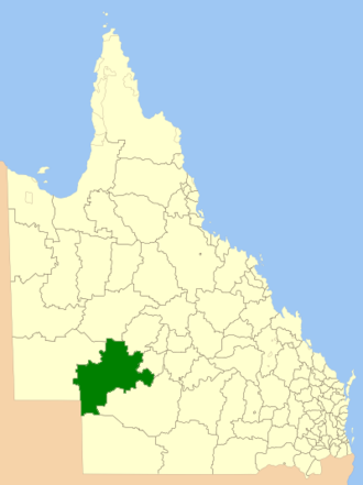 Shire of Barcoo - Location within Queensland