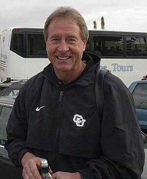 Gary Barnett - Image: Barnett at Fiesta Bowl cropped