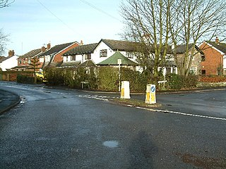 Barrow Nook rural hamlet on the fringes of Bickerstaffe in the county of Lancashire, England