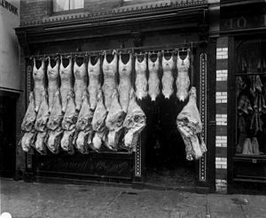 Bury St Edmunds - Barwell's Butcher Shop, Bury St Edmunds, c. 1900