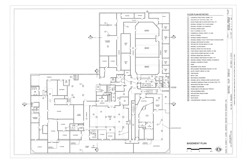 file basement plan hotel san diego 301 385 west broadway between