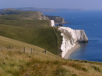 Bat's Head - View east towards Bat's Head from White Nothe.