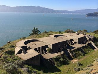 Angel Island (California) - Battery Ledyard, near Point Knox, was active between 1899 and 1915.