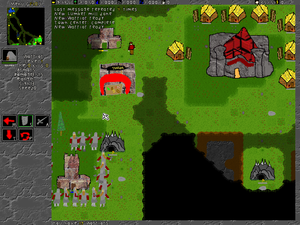 Video game development - Placeholder graphics are characteristic of early game prototypes.