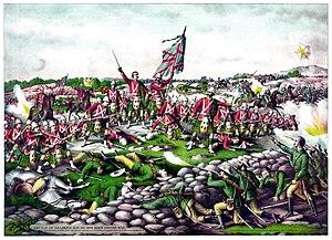 Battle of Belmont (1899) - Battle of Belmont, by Kurz and Allison