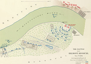 Battle of Belmont - Image: Battle of Belmont map