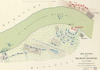 Battle of Belmont - Image: Battle of Belmont map