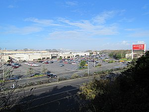 Bayshore Mall seen from Fort Humboldt.JPG