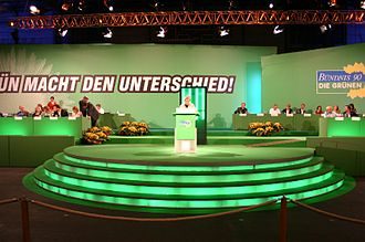 Alliance 90/The Greens - Federal party convention in Oldenburg; Renate Künast speaking (2005)