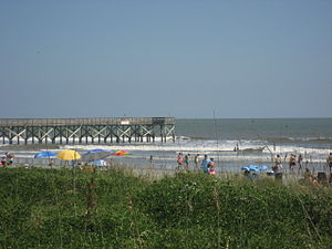 Isle of Palms, South Carolina - The beach at Isle of Palms