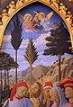 Beato angelico, pala strozzi della deposizione, con cuspidi e predella di lorenzo monaco, 11.JPG