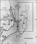 Beaufort Tactical Aircrew Combat Training System (TACTS) range map 1978.png