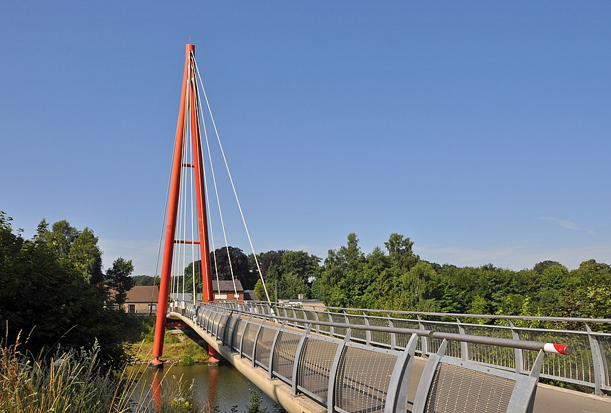 Beernem (Belgium): cycling bridge on the Ghent-Bruges canal