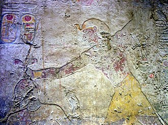 Temple of Beit el-Wali - Relief of Ramesses II smiting an enemy of Egypt from Beit el-Wali